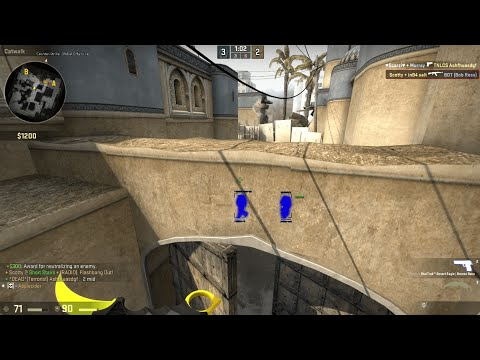 "CSGO flying hack + blatant aimbot and wallhacks - full MM match ""Return of de_commentator"""