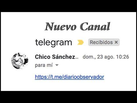 Nuevo canal en Telegram - Chico Sánchez