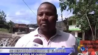 SE DESBORDÓ QUEBRADA EN EL BARRIO BUENOS AIRES DE QUIBDÓ