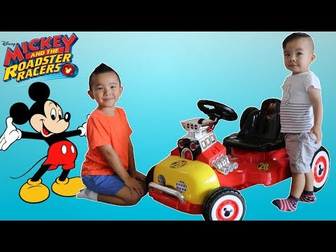 Disney Mickey Mouse Roadster Racer Battery Powered Ride On Car Test Drive Fun With Ckn Toys