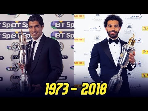 PFA Player Of The Year Award Winners II 1973 - 2018 II
