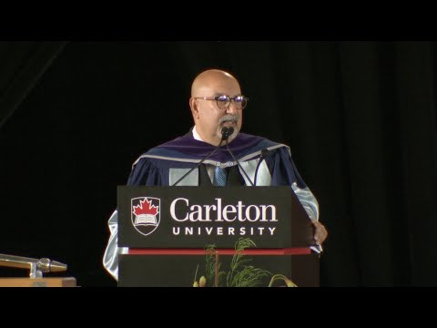 Firdaus Kharas awarded degree of Doctor of Laws (Carleton University, 146th Convocation)