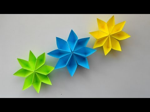 Простые цветы из бумаги Оригами поделки для украшения подарков