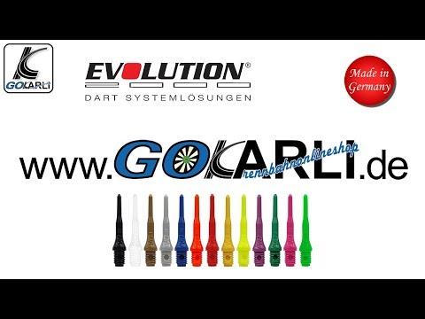 incl Farbe 1 Satz Flights Gewinde: 2BA MS-DARTSHOP Original Evolution Evo Softdart Spitzen 500 St/ück