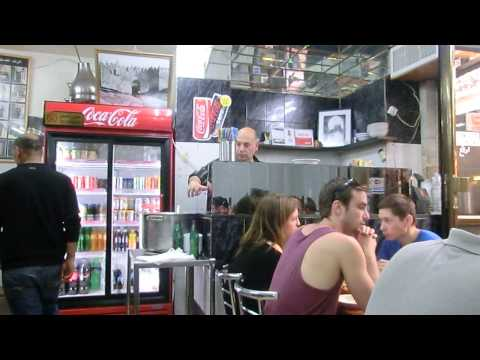 20140322 14:59 Humus with Ori at Lina restaurant old city Jerusalem