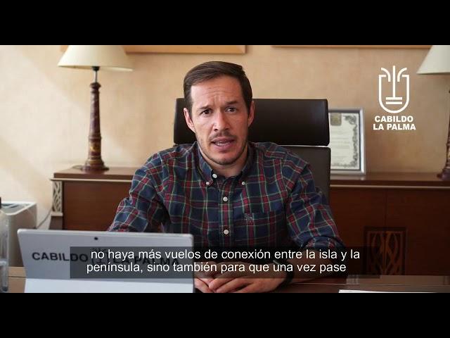 El presidente del Cabildo de La Palma realiza declaraciones referente al Vuelo de Iberia.