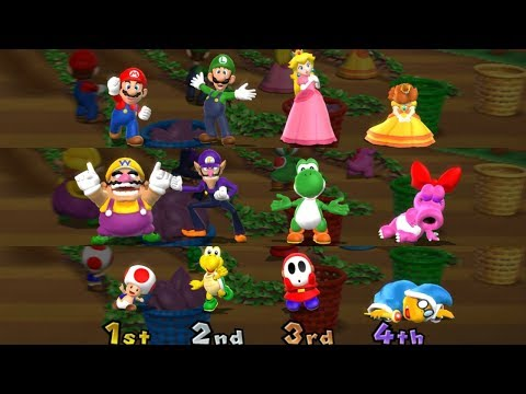 Mario Party 9 - All Character Win/Lose Animations
