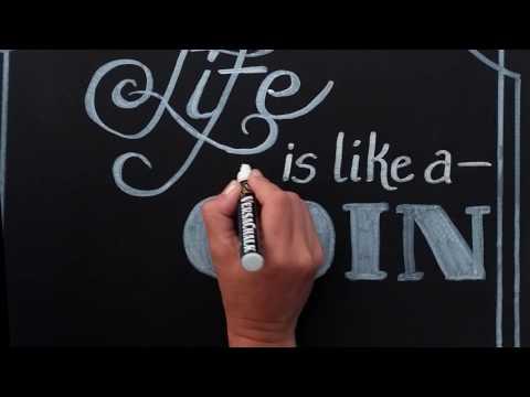 Inspirational Quotes - Life | Chalk Art TimeLapse | VersaChalk