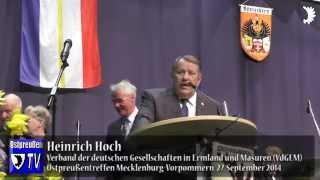 Grüße aus Südostpreußen: Heinrich Hoch und Barbara Ruzewicz (VdGEM) beim Ostpreußentreffen MV 2014