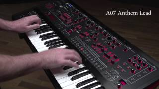 Roland JD-XA Synthesizer Ver.1.50 Preset Sound Examples: A07 Anthem Lead