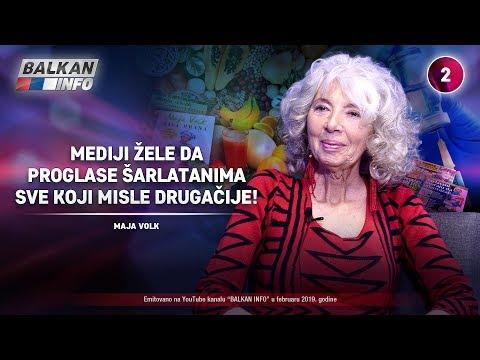 INTERVJU: Maja Volk - Mediji žele da proglase šarlatanima sve koji misle drugačije! (20.2.2019)