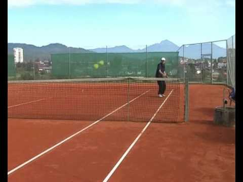 Advanced Tennis Backhand - Drill 1: Alley Rally