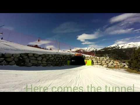 Skiing el tarter in Andorra 2016
