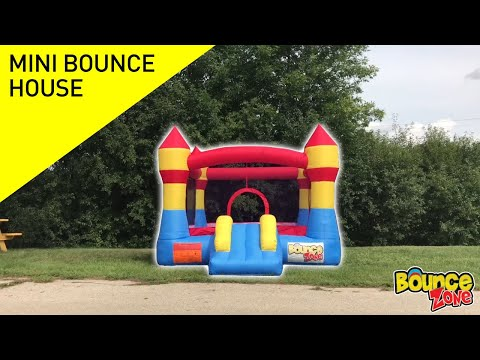 Carrying Bag BounceZone Mini Residential Indoor//Outdoor Inflatable Castle Style Nylon Jumping Moonwalk Bounce House with Blower and Repair Kit for Kids