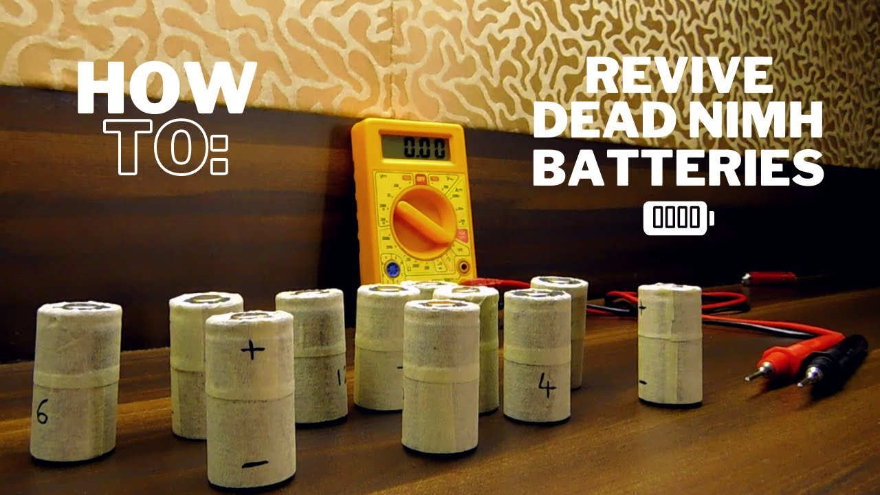 How To Revive Dead Deep Discharged Nimh Batteries Easily Youtube