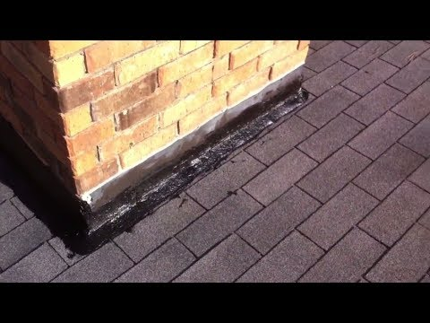 How to repair chimney flashing