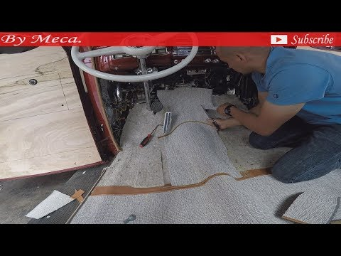 1939 ford coupe part 2.  How to make the carpet.
