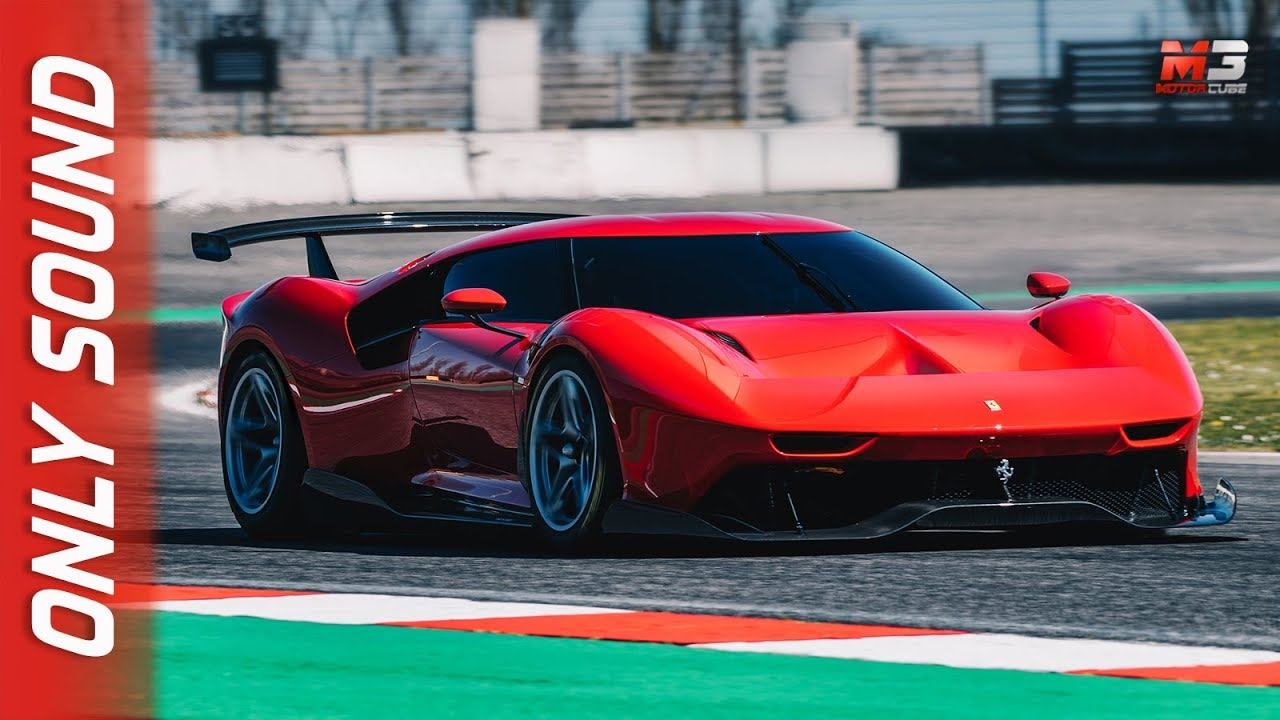 new ferrari p80  c one-off 2019 - first test on track only crazy sound
