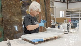 Stone Coat Countertop Epoxy Tutorial- Pour over Existing Counters with Integrated Backsplash