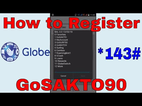 How to Register GoSAKTO90 Using *143# in Mobile Phone | Philippines Load | Globe Network
