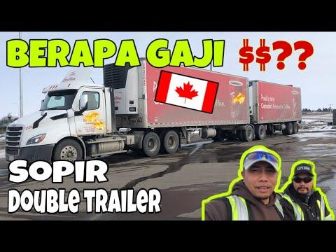 Berapa Gaji Supir Truk Double Trailer Di Canada ❓❓