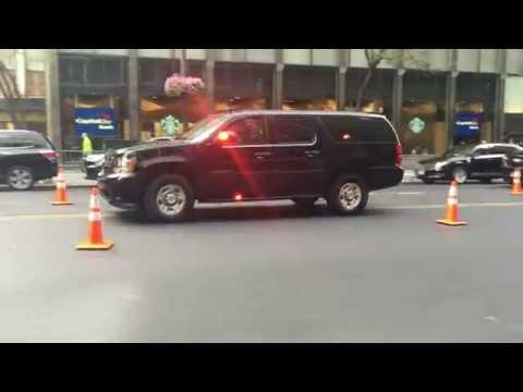NYPD CRUISER & UNITED STATES SECRET SERVICE UNIT PATROLLING DURING U.N. GENERAL ASSEMBLY.