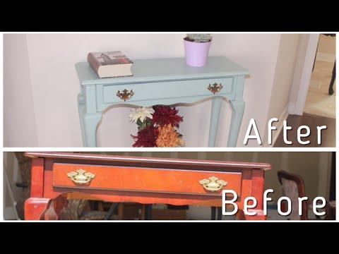 Extreme Furniture Transformation / Rest-oleum chalked ultra matte paint / Chalk painting furniture