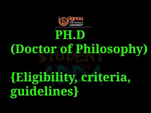 [IGNOU] PH.D ELIGIBILITY ADMISSION PROCEDURE COMPLETE DETAILS