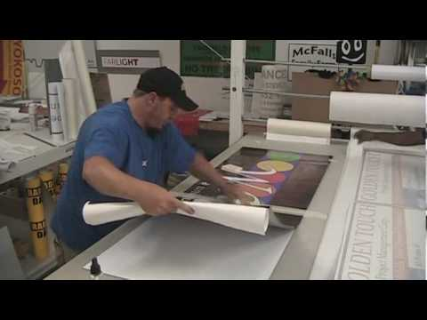 Custom Signs - (www.BestBuySigns.com) How To Lay Vinyl On A Flat Panel Sign