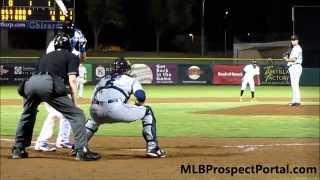 Matt Reynolds RBI double - Arizona Fall League 2014 - New York Mets SS prospect