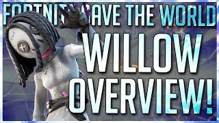 FORTNITE STW: WILLOW GAMEPLAY OVERVIEW! NEW FORTNITEMATES QUESTLINE HERO!