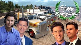 HAPPY RICKSGIVING! American Truck Sim with the SQUAAAAAA