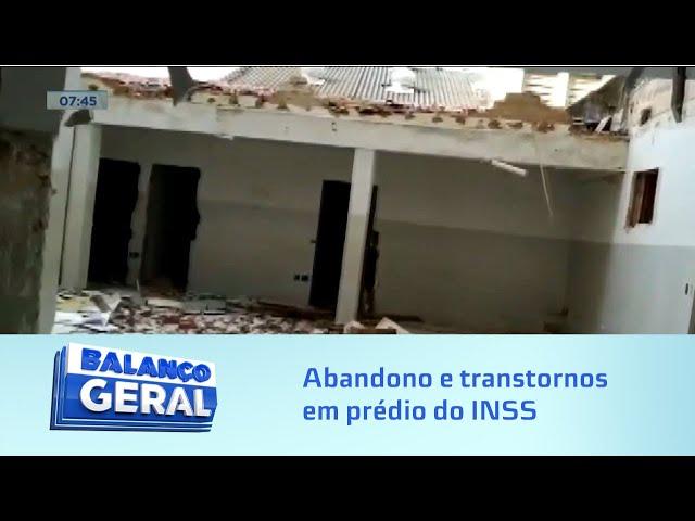 Abandono: Prédio onde funcionava agência de INSS no Centro de Maceió facilita ação de criminosos
