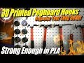 Useful 3D Print: Pegboard Hooks for Tools to Organize Your Shop or Garage
