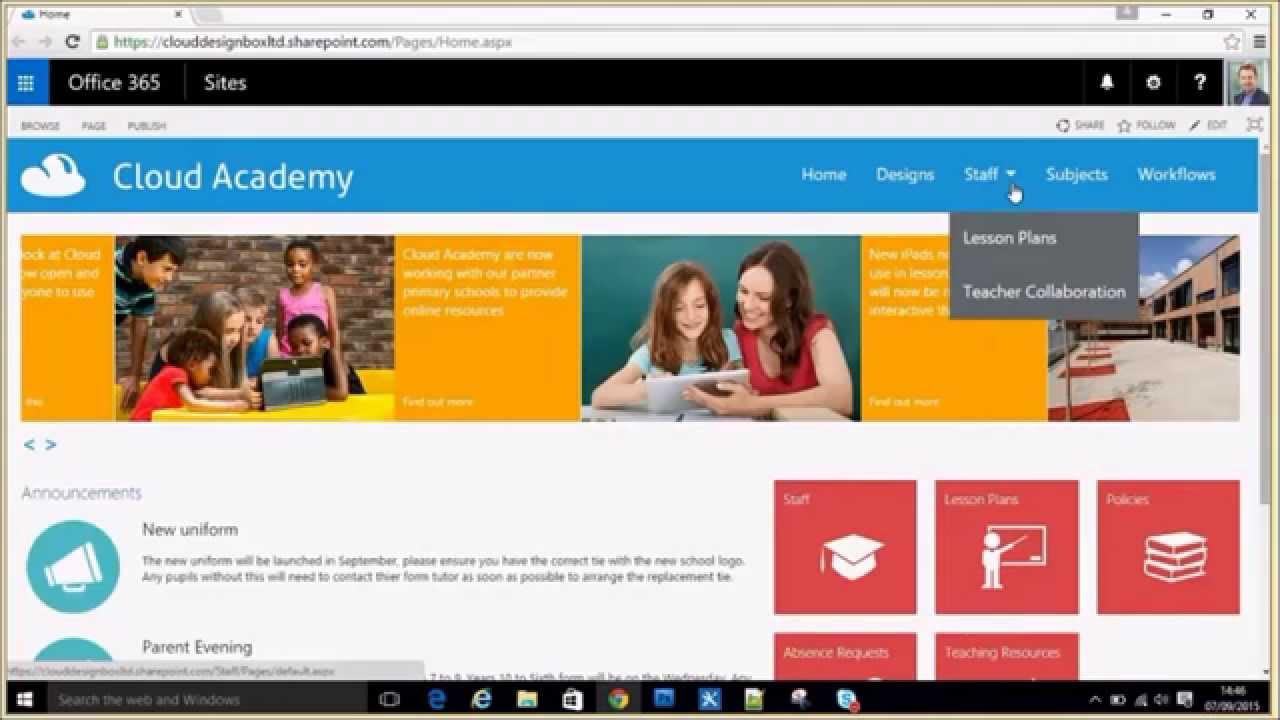 Responsive design demonstration in SharePoint Online ...