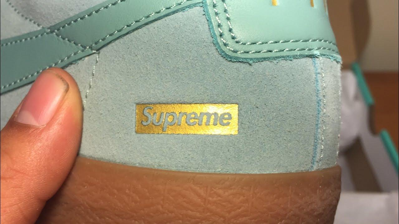online store f572c d2ce2 Nike x Supreme Blazer Low GT Unboxing (Teal blue)