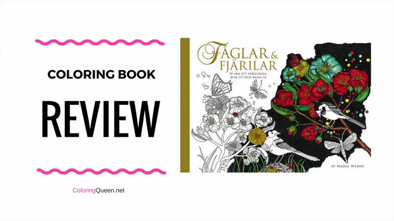 Faglar and Fjarilar Coloring Book (Birds & Butterflies) - Nadja ...