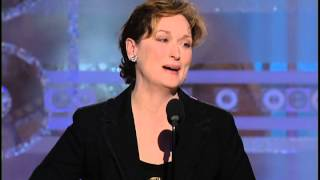 Meryl Streep Wins Best Actress in a Miniseries or TV Movie - Golden Globes 2004