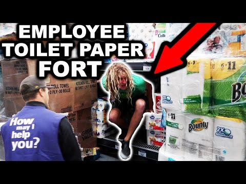 TOILET PAPER FORT AS FAKE WALMART EMPLOYEES! Ft. NELK