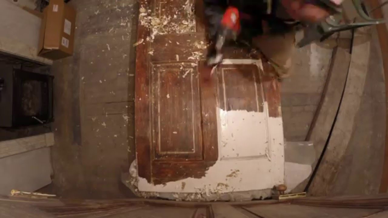 Stripping Paint From An 1820s Georgian Door Timelapse You