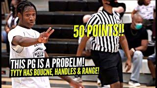 TyTy Washington Drops 50 POINTS w/ RUNNING CLOCK!! Elite PG Has HANDLES, Bounce & RANGE!!