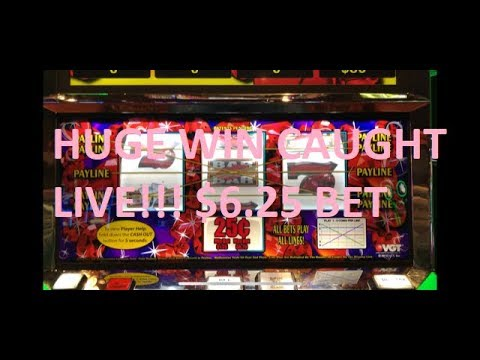 HUGE WIN CAUGHT LIVE!!! VGT RUBY RED SLOT $6.25 MAX BET!!!!! RED SPINS GALORE!!!