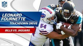 Leonard Fournette Leads Jags on TD Drive to Take the Lead!   Bills vs. Jaguars   NFL Wild Card HLs
