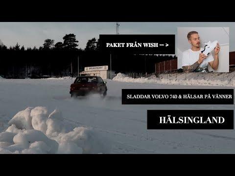 Åker till Hälsingland = snö/sladd med 740:n samt firar jul och öppnar paket från WISH! #12