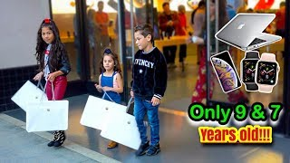 Gambar cover KIDS BUY EVERYTHING IN THE APPLE STORE?! | Familia Diamond