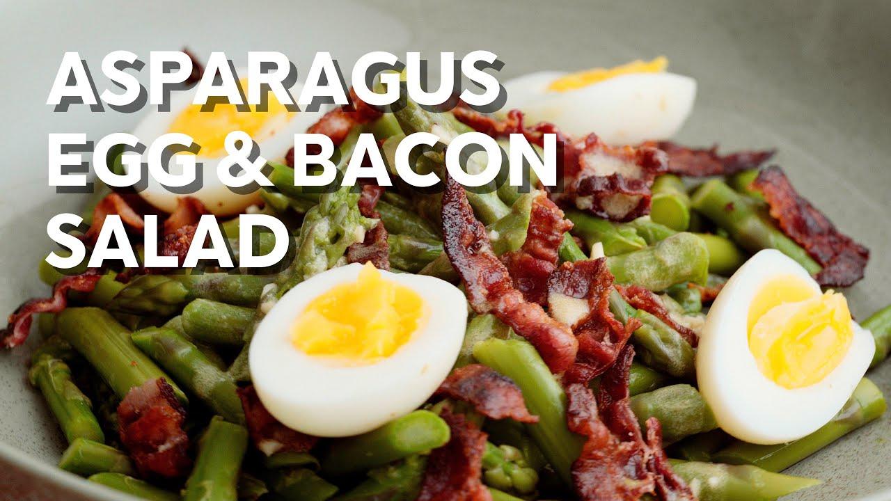 Asparagus bacon & egg salad • 1-Min Recipe