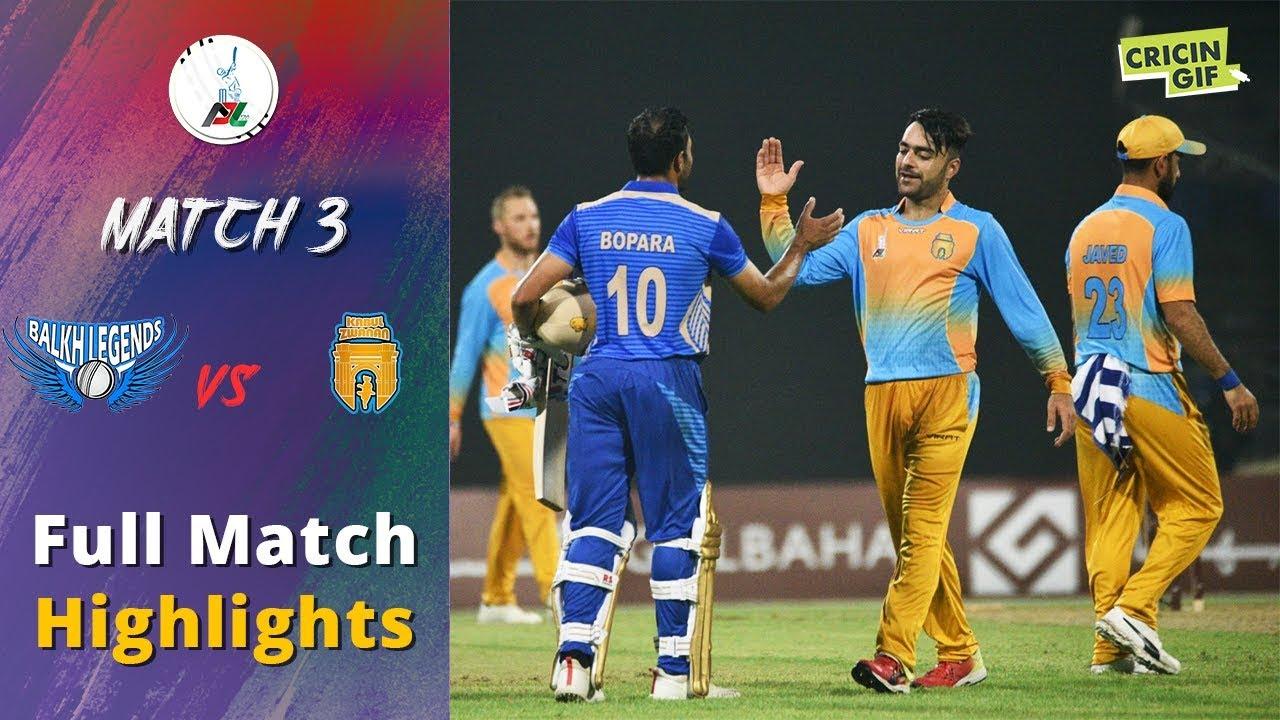 APL 2018 M3: Balkh Legends v Kabul Zwanan Full highlights - Afghanistan Premier League