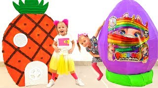 New TOY STORY by Alice / Kids play with Giant Toys Eggs Surprises