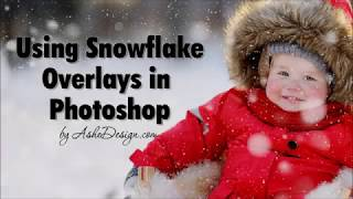 Using Snowflake Overlays in Photoshop