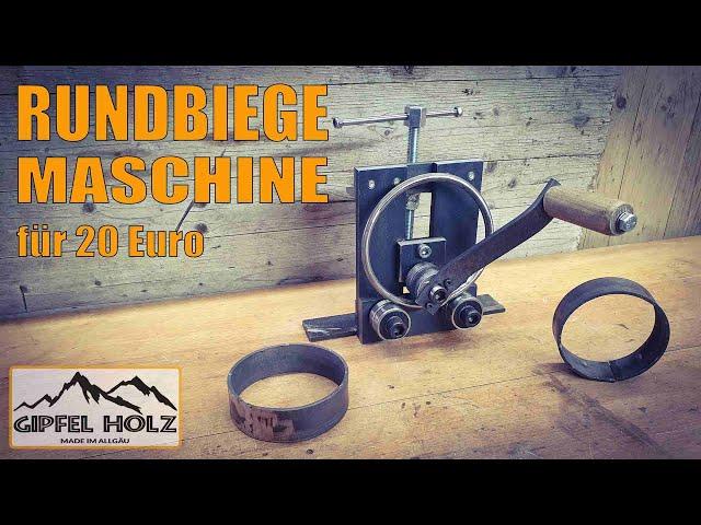Rundbiegemaschine selber bauen - Rundstahl Flacheisen rund biegen - Biegemaschine - Biegevorrichtung
